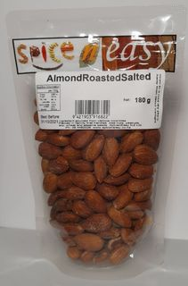 Almond roasted salted 180g