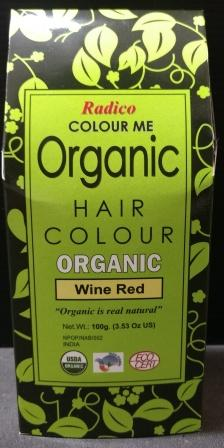 Radico Organic Henna Colour Wine Red