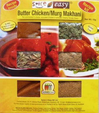 Authenticate Butter Chicken Indian Curry Recipe Ingredient delivered to your door anywhere in New Zealand