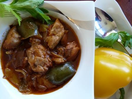 Cajun Chicken cooked with SpicenEasy Slow Cooker Cajun Chicken