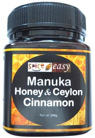 Manuka Honey Raw Unpasteurized Ceylon Cinnamon