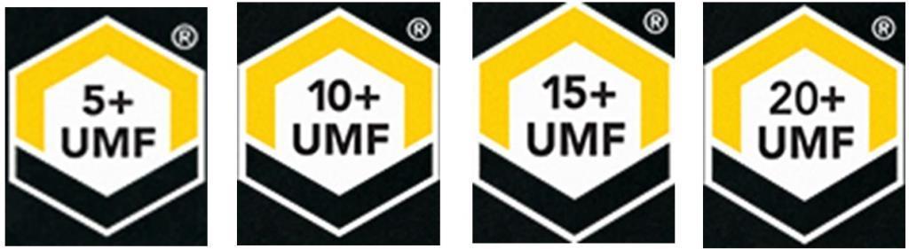 UMF 5+ UMF 10+ UMF15+ UMF20+